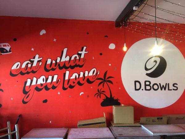 アサイボウルのお店D.Bowls店内の様子