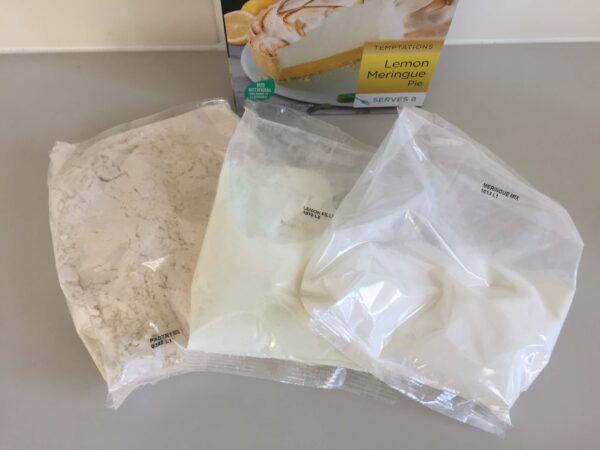 レモンメレンゲパイを作るための粉