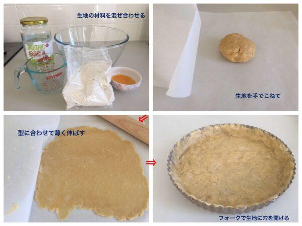 パイの生地作りの工程