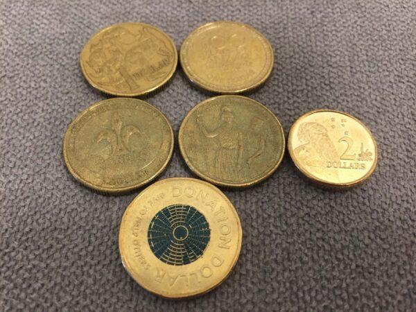 オーストラリア1ドルdonationコイン