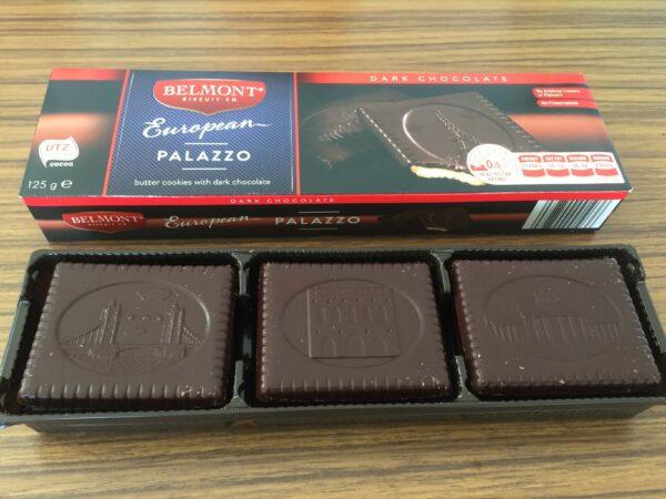 Aldiのおすすめお菓子ライスチョコレートが店頭に並んでいる様子