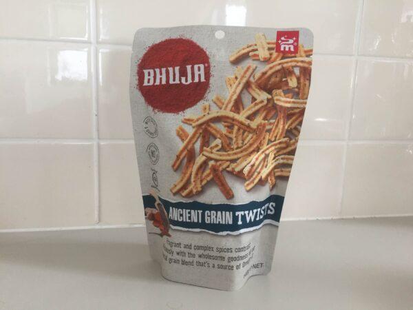 オーストラリアのお菓子Majans BHUJA Ancient Grain Twists