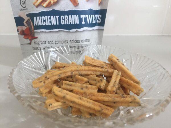 オーストラリアのお菓子Majans BHUJAのAncient Grain Twistsのアップ写真