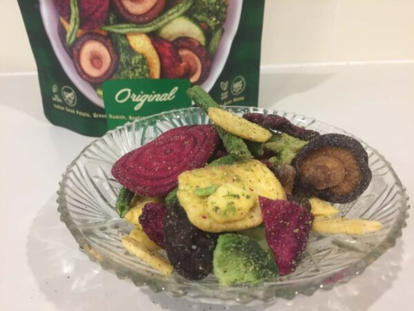 オーストラリア製の野菜チップス