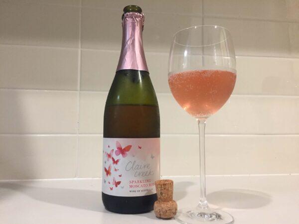 ALDIのワインSparkling Moscatoのロゼ