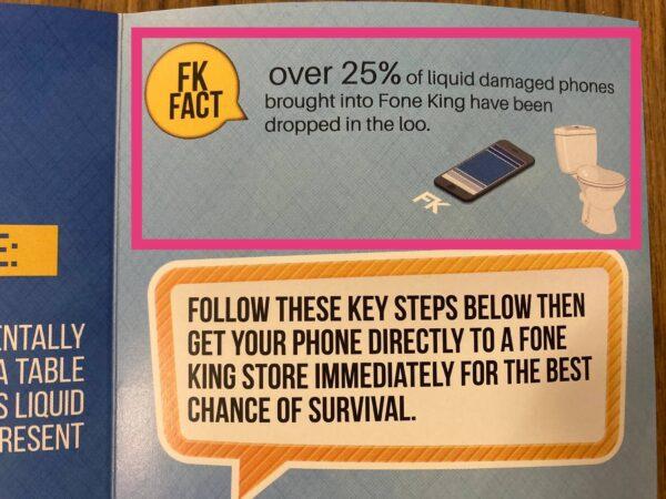 FONE KINGで配布しているパンフレット